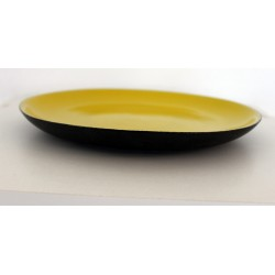 Assiette jaune 23 cm Ø