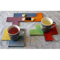 Dessous de plat/verres modulable geek inspiré Tetris