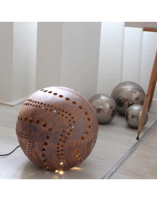 Sphère luminaire en grès