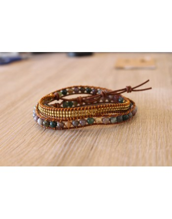 Bracelet Energie Lumineuse- Agate Indienne