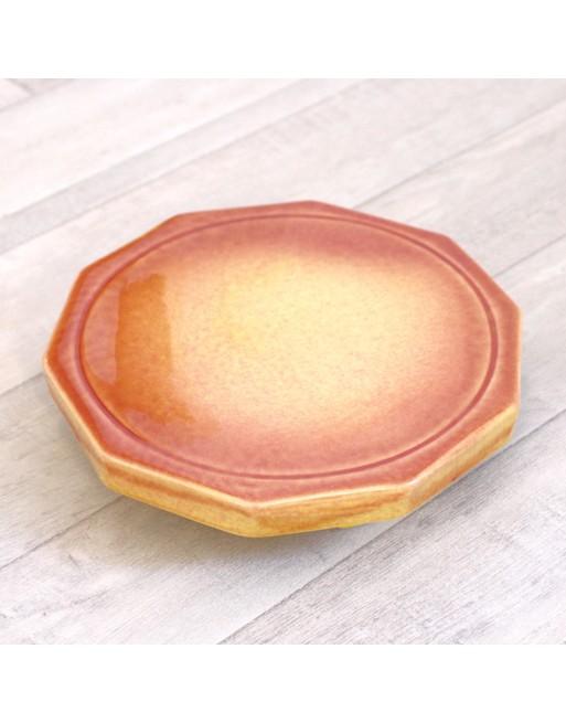Dynamiseur d'aliments décagone orange