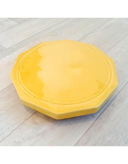 Dynamiseur d'aliments décagone jaune