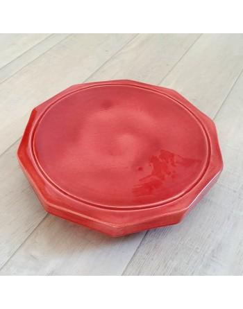 Dynamiseur d'aliments décagone rouge