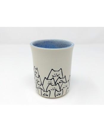 Tasse chat - bleu