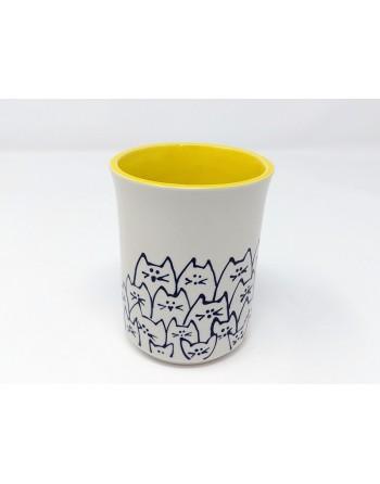 Tasse chat - jaune