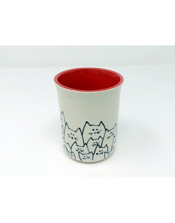 Tasse chat - rouge