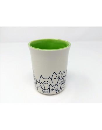 Tasse chat - vert