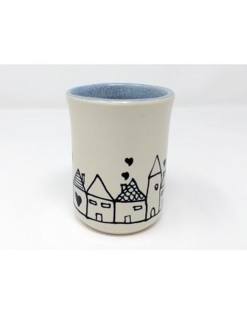 Tasse maison - bleu