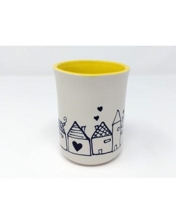 Tasse maison - jaune