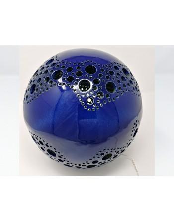 Sphère luminaire bleu nuit