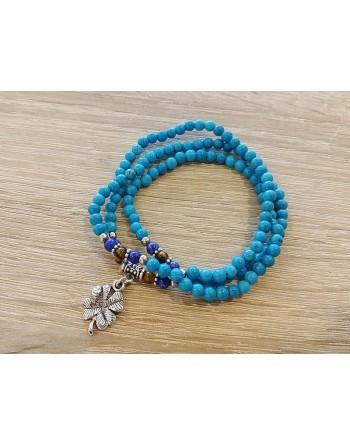 Bracelet 3 rangs turquoise...