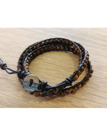Bracelet wrap oeil de tigre