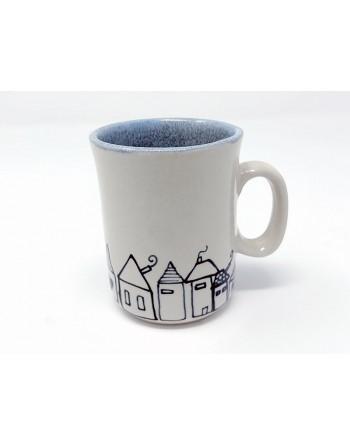 Tasse maison avec anse - bleu