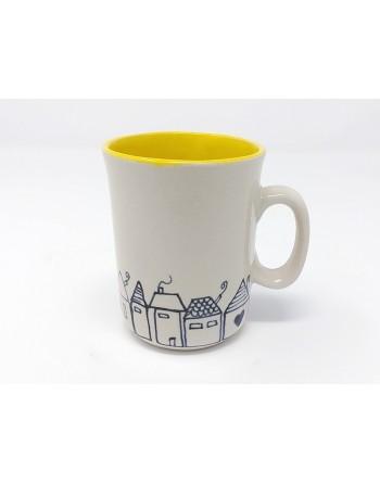 Tasse maison avec anse - jaune