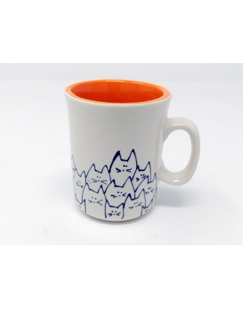 Tasse chat avec anse - orange