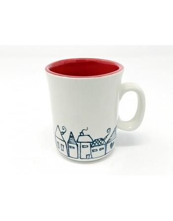 Tasse maison avec anse - rouge