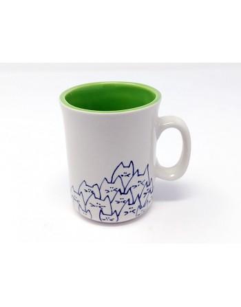 Tasse chat avec anse - vert