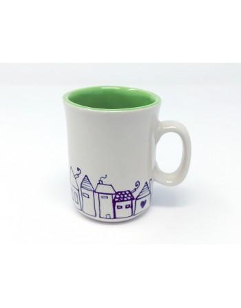 Tasse maison avec anse - vert