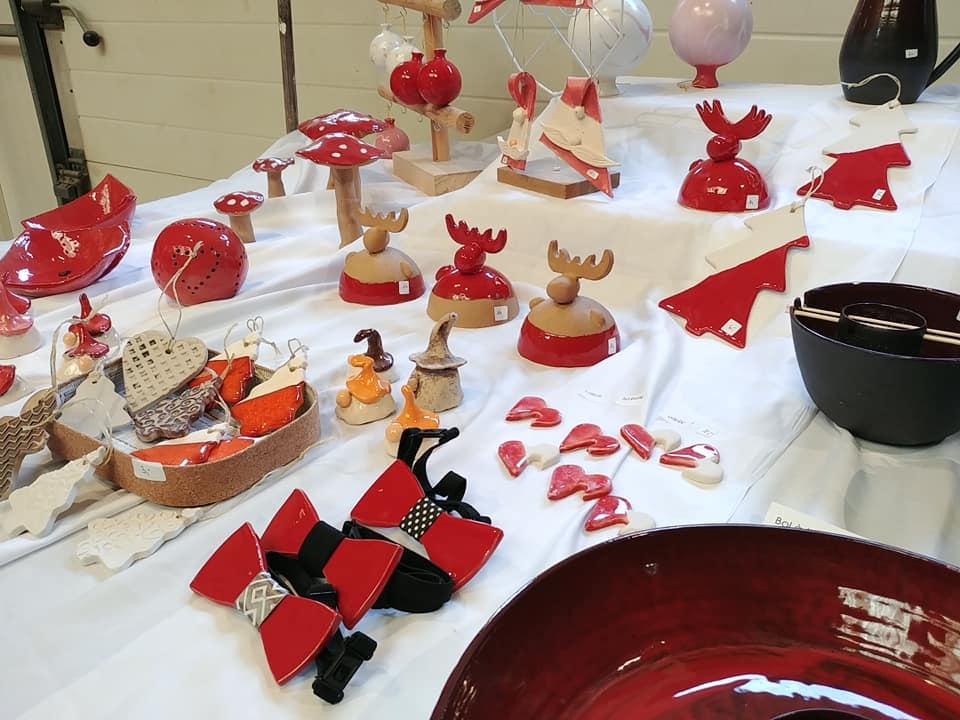 décorations de Noël en céramiqie