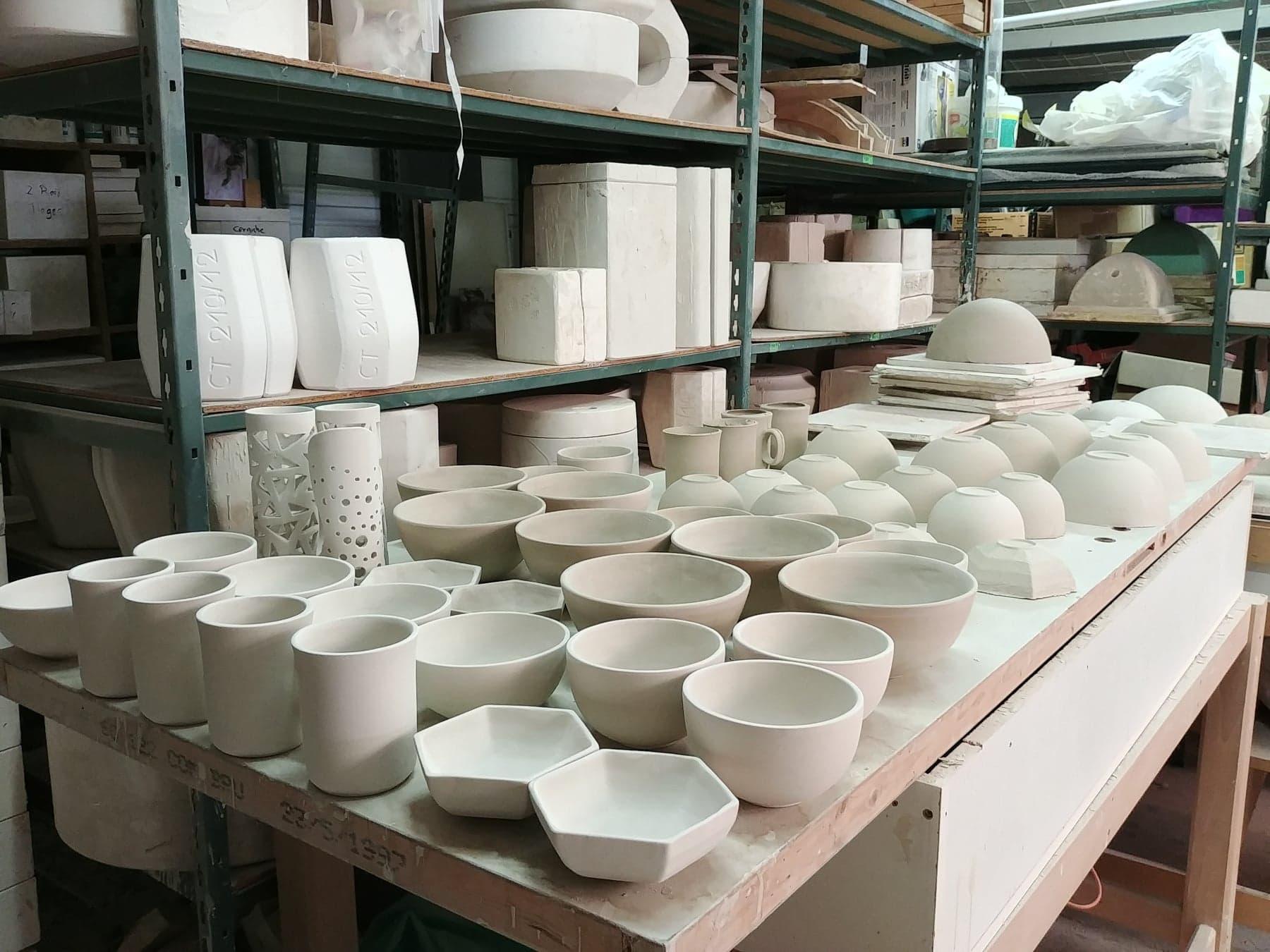 séchage de la porcelaine