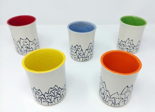 Tasse réalisée en porcelaine